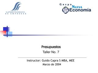 Instructor: Guido Capra S MBA, MEE