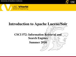 Introduction to Apache Lucene/Solr
