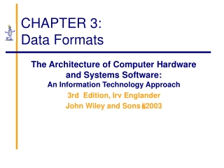 CHAPTER 3: Data Formats