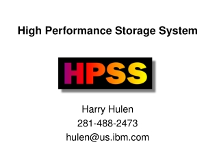 High Performance Storage System