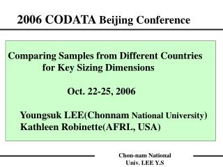 2006 CODATA  Beijing Conference
