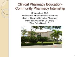 Clinical Pharmacy Education-Community Pharmacy Internship