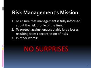 Risk Management's Mission