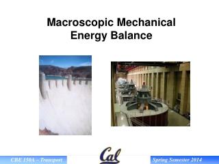 Macroscopic Mechanical Energy Balance