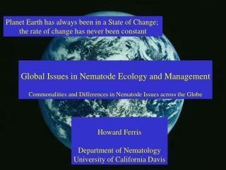 Planet Earth has always been in a State of Change;  the rate of change has never been constant
