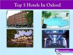 TOP5 HOTELS IN OXFORD