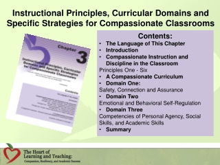 Instructional Principles, Curricular Domains and Specific Strategies for Compassionate Classrooms