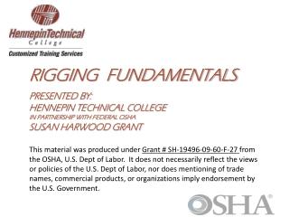 RIGGING  fundamentals