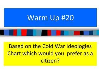 Warm Up #20
