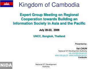 Expert Group Meeting on Regional Cooperation towards Building an Information Society in Asia and the Pacific July 20-22,