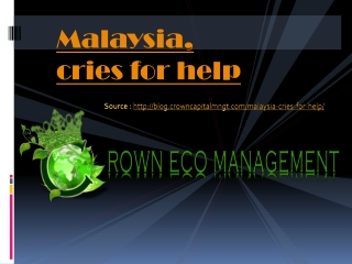 Crown Capital Eco Management Indonesia Fraud - Wellsphere :