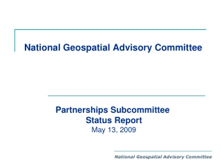 National Geospatial Advisory Committee