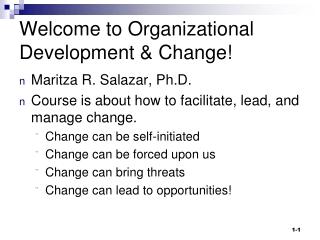 Welcome to Organizational Development & Change!