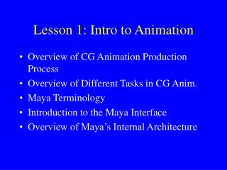 Lesson 1: Intro to Animation