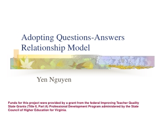 Adopting Questions-Answers Relationship Model