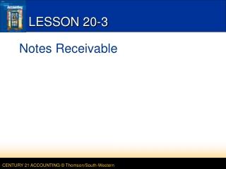 LESSON 20-3