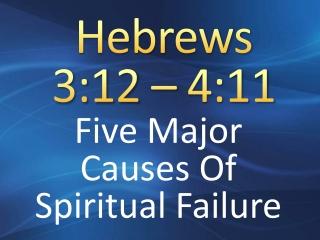 Hebrews 3:12 – 4:11