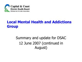 Local Mental Health and Addictions Group