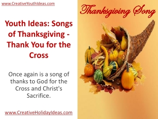 Youth Ideas: Songs of Thanksgiving - Thank You for the Cross