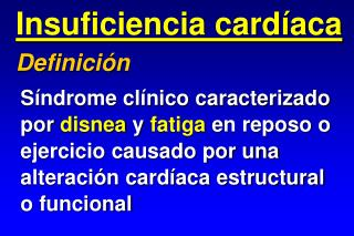Insuficiencia card aca