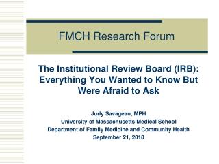 FMCH Research Forum