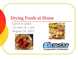 Drying Foods at Home