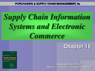 Supply Chain Information Systems and Electronic Commerce