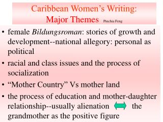 Caribbean Women s Writing:  Major Themes  Pinchia Feng