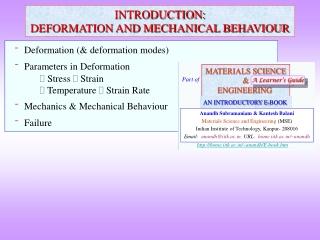 Deformation (& deformation modes)