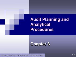 Audit Planning and Analytical Procedures