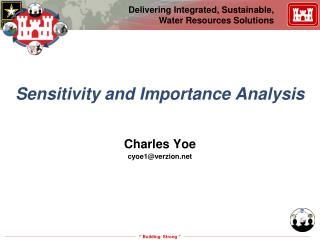 Sensitivity and Importance Analysis