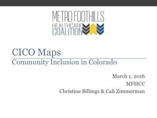 CICO Maps Community Inclusion in Colorado