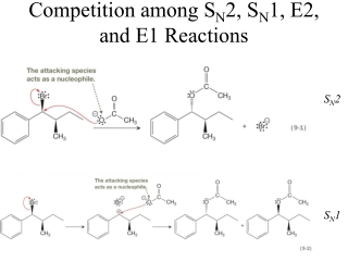 Competition among S N 2, S N 1, E2,  and E1 Reactions