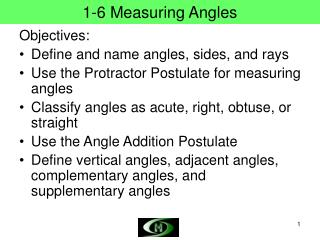 1-6 Measuring Angles
