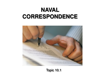 NAVAL CORRESPONDENCE