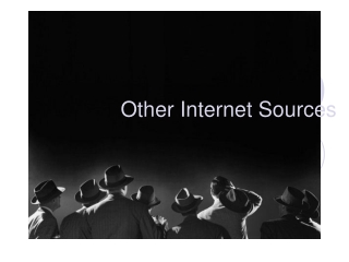 Other Internet Sources