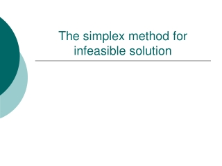 The simplex method for infeasible solution