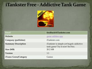 iTankster Free - Addictive Tank Game
