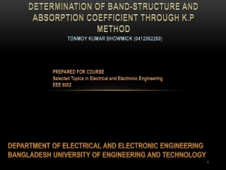 Band Structure Calculation Through K.P method