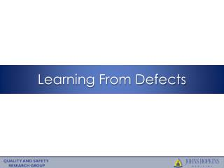 Learning From Defects