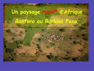 Un paysage  rural*  d'Afrique  Banforo au Burkina Faso