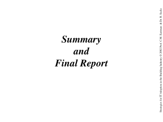 Summary and Final Report