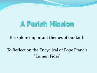 A Parish Mission
