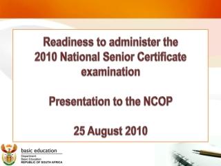National Senior Certificate