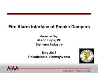 Fire Alarm Interface of Smoke Dampers