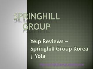 Yelp Reviews – Springhill Group Korea   Yola.com