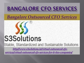 Bangalore CFO Services, Outsource CFO Services Bangalore