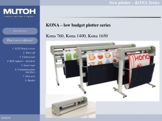 KONA – low budget plotter series Kona 760, Kona 1400, Kona 1650
