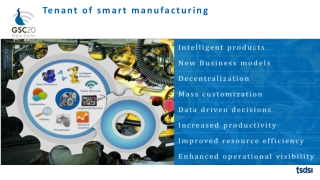 Tenant of smart  m anufacturing