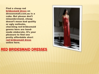 Choice of bridesmaid